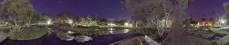 Alice Keck Park Twilight - Panoramic 360 degree image