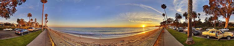 Sunset Beach Walk - Panoramic 360 degree image