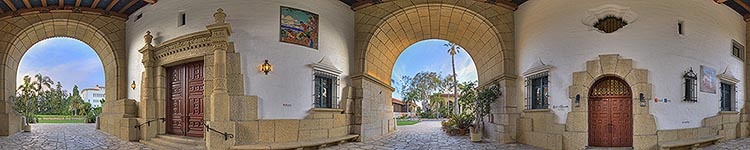 Under the Courthouse Archway - Panoramic 360 degree image