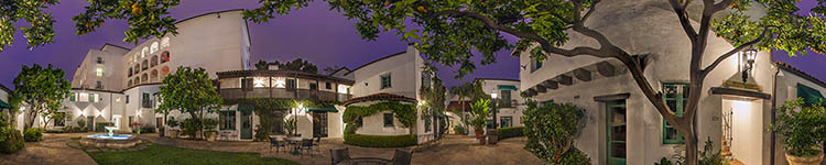 El Paseo Courtyard - Under the Orange Tree - Panoramic 360 degree image
