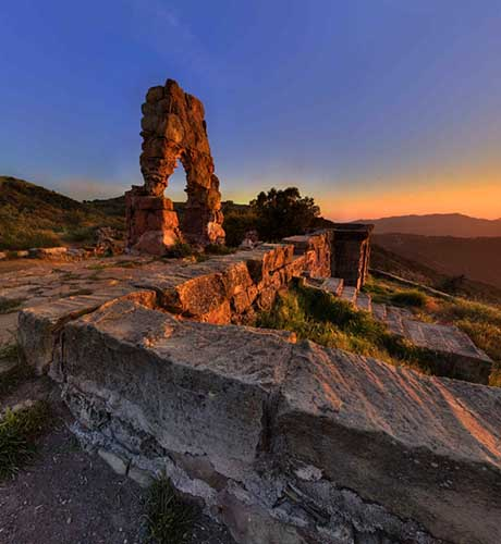 Knapp's Castle Sunset Panorama by Bill Heller