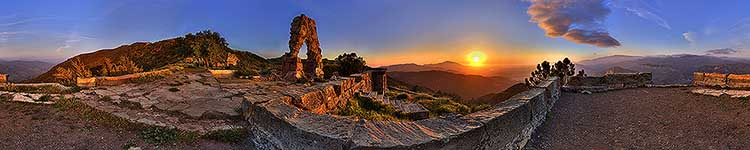 Knapps Castle Archway Sunset - Panoramic 360 degree image