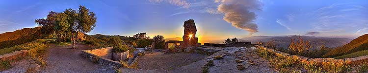 Knapp's Sunset Through the Arch - Panoramic 360 degree image