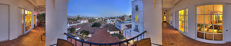 Buynak and Fauver Santa Barbara Evening View - Panoramic 360 degree image