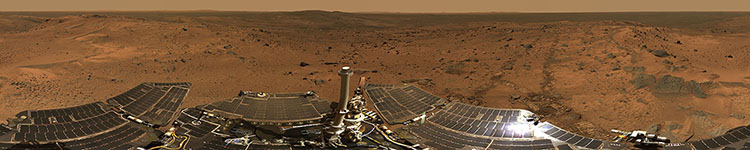 NASA Mars Spirit Rover, Husband Hill Summit - Panoramic 360 degree image