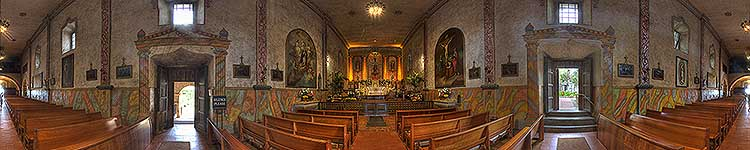 Mission Santa Barbara Sanctuary - Panoramic 360 degree image
