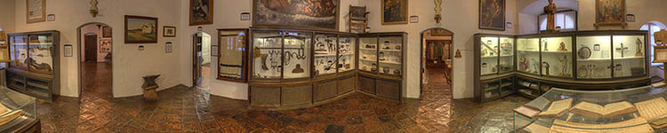 Mission Santa Ines - Museum Artifacts - Panoramic 360 degree image