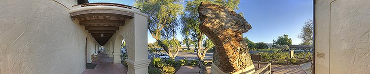 Mission Santa Ines - Original Arch - Panoramic 360 degree image