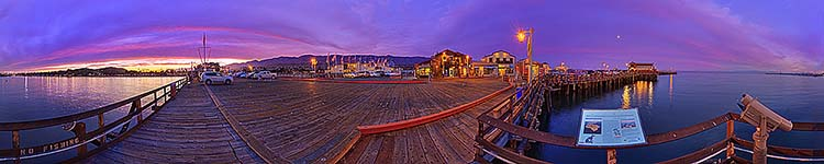 Stearns Wharf - No Fishing - Panoramic 360 degree image