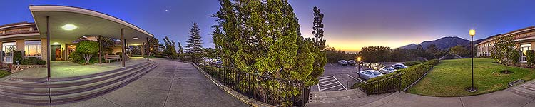 Ladera Lane Twilight - Panoramic 360 degree image