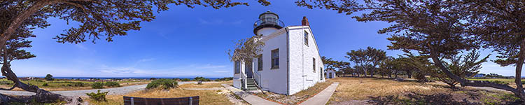 Point Pinos Lighthouse - Panoramic 360 degree image