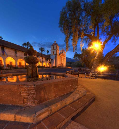 Mission Santa Barbara Twilight 360 by Bill Heller
