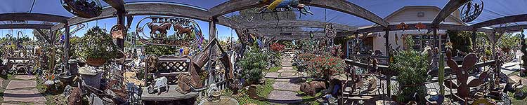 Rolling Hills Garden Center - Flagstone Path - Panoramic 360 degree image