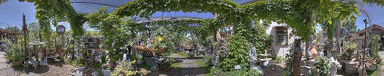 Rolling Hills Shady Garden - Panoramic 360 degree image
