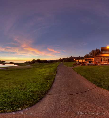 Sandpiper Golf Course Sunset Path  by Bill Heller