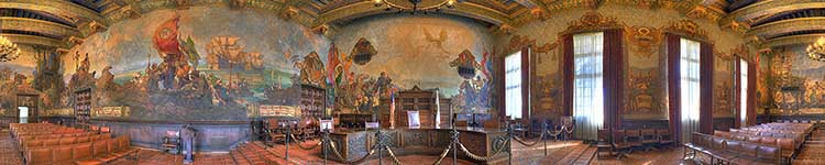 Immersive 360 virtual reality photographs tours bill for Mural room santa barbara courthouse