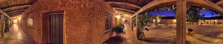 Santa Barbara Historical Museum Courtyard - Panoramic 360 degree image