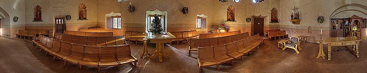 Queen of the Missions Chapel - Panoramic 360 degree image