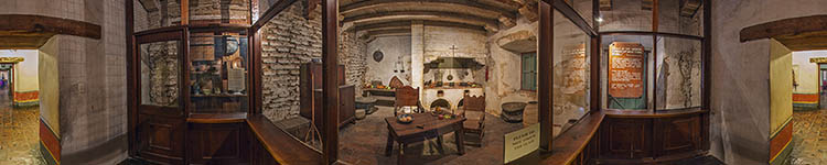 Santa Barbara Mission Kitchen - Panoramic 360 degree image