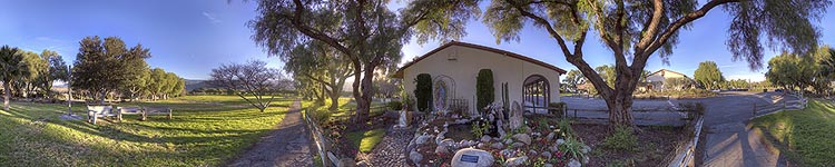 Santa Inez Mission Grounds - Panoramic 360 degree image