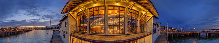 Ty Warner Sea Center - Whale's eye View - Panoramic 360 degree image