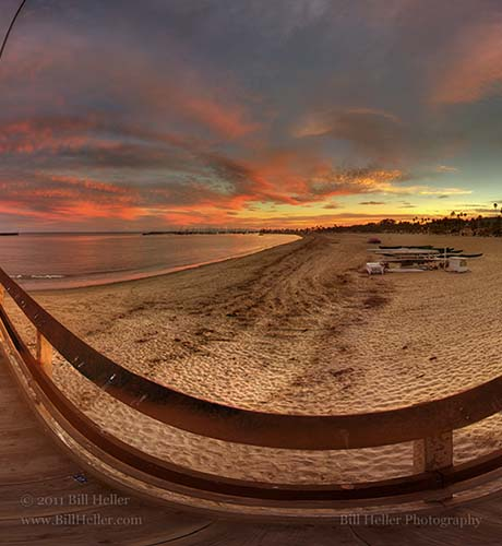 Stearns Wharf Winter Sunset  by Bill Heller