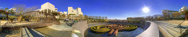 The Getty Center Fountain - Panoramic 360 degree image