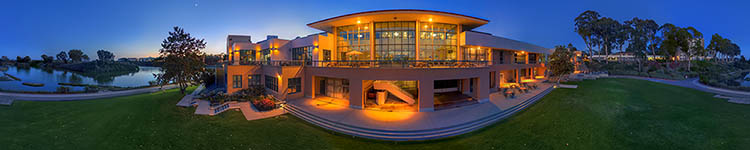 University of California Santa Barbara - Student Center by the Lagoon - Panoramic 360 degree image