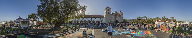 I Modnnari XXVI at the Santa Barbara Mission - Panoramic 360 degree image